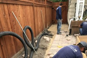 Patio Paver and irrigation installation | FarWest Landscape | Landscaping Contractor