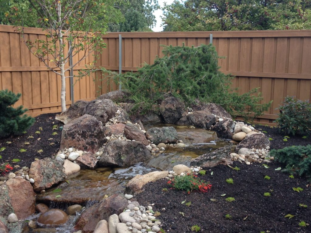 Water fountain pond farwest landscape boise idaho for Waterfall features for ponds