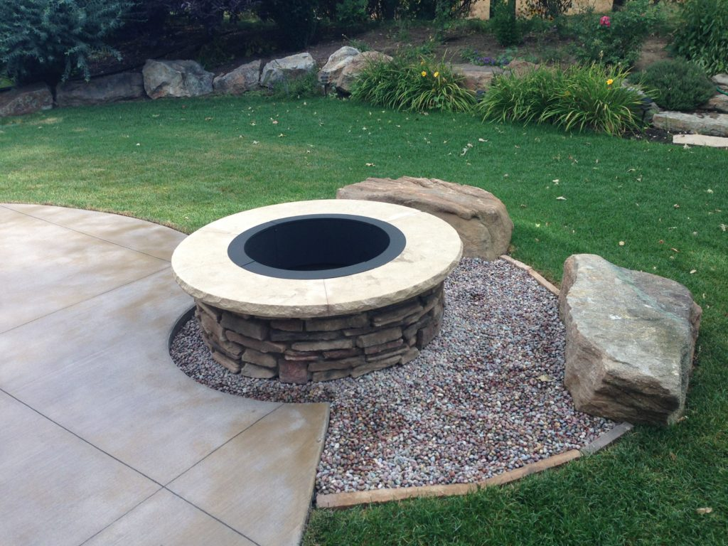 Custom Outdoor Fire Pit Farwest Landscape Boise Idaho