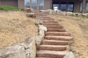 Custom Stone Steps | Landscape Design | Boise, Idaho | Far West Landscape and Garden