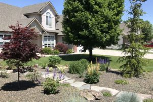 landscape with sprinklers |farwest landscaping |boise